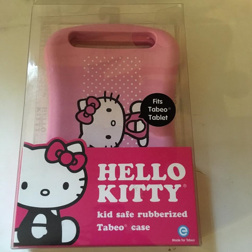 Tabeo Kid Safe Rubberized Case - Hello kitty fits tab tablet