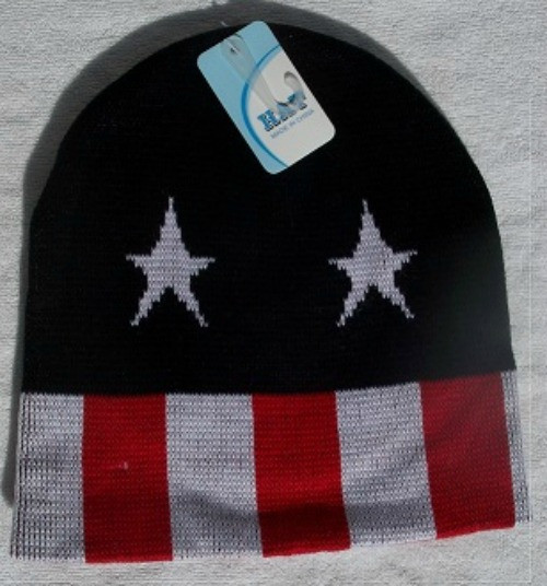 Beanie Ski Hats -Stars & Stripes  Toasty Wam - One Size Fits Skul Caps