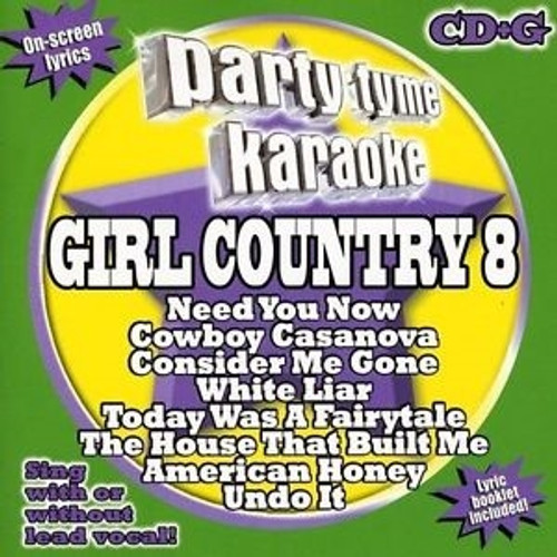 Party Tyme Karaoke Vol 8 Girl Country Cd