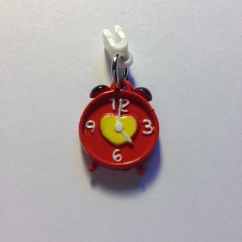 Pop Girl Ear Bud Charm: Alarm Clock