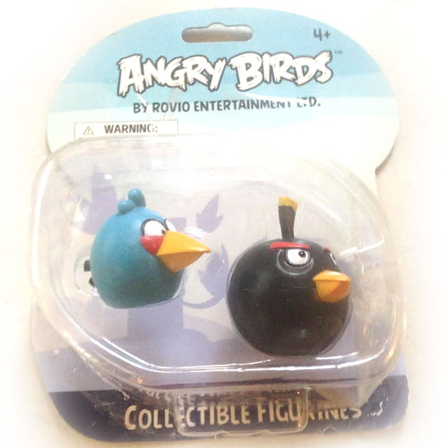 Angry Birds Collectible Figurines Blue/Black Birds