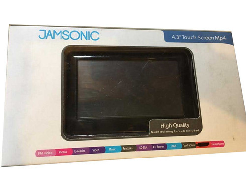 """Jamsonic 4.3"""" Touch Screen Mp4- High Quality"""