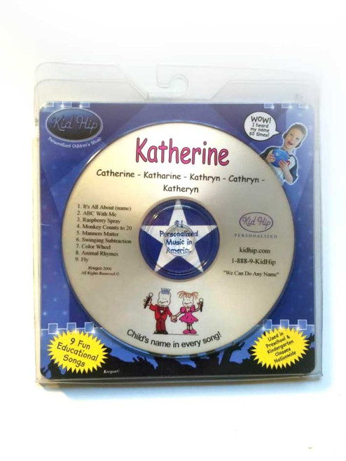 KID HIP Personalized Name (Katherine) CD- Hear Your Child's Name 50x In The Music