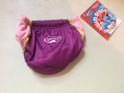 Swim Diapers Pink/Purple/White 6months