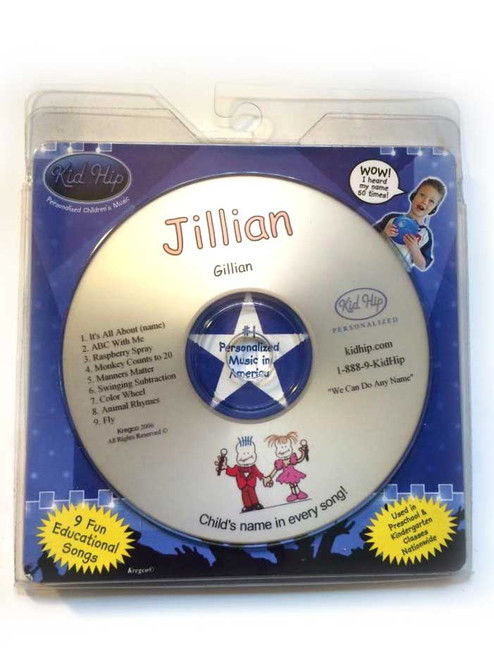 KID HIP Personalized Name (Jillian) CD- Hear Your Child's Name 50x In The Music