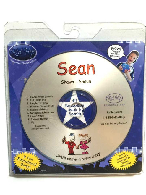 KID HIP Personalized Name (Sean) CD- Hear Your Child's Name 50x In The Music