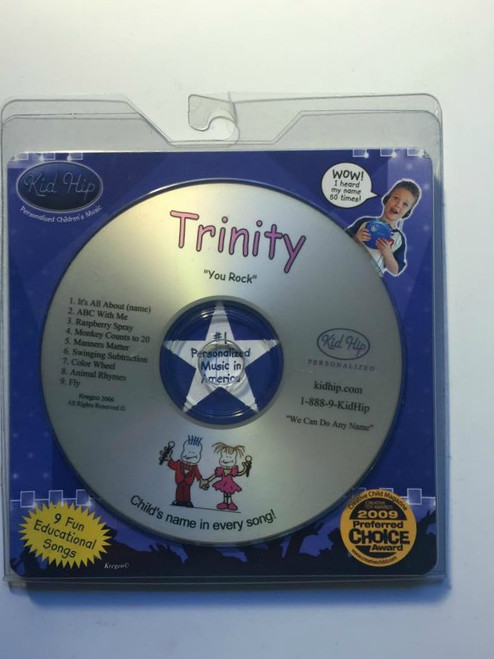 KID HIP Personalized Name (Trinity) CD- Hear Your Child's Name 50x In The Music