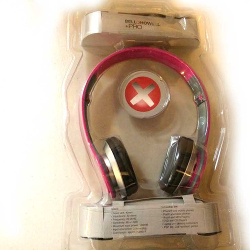 Bell Howell Pro Foldable Headphone PINK