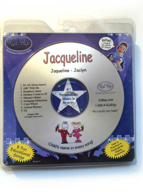 KID HIP Personalized Name (Jacqueline) CD- Hear Your Child's Name 50x In The Music
