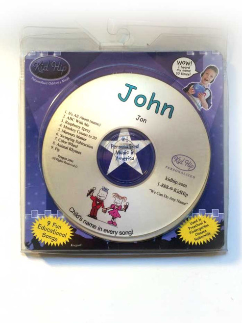 KID HIP Personalized Name (John) CD- Hear Your Child's Name 50x In The Music