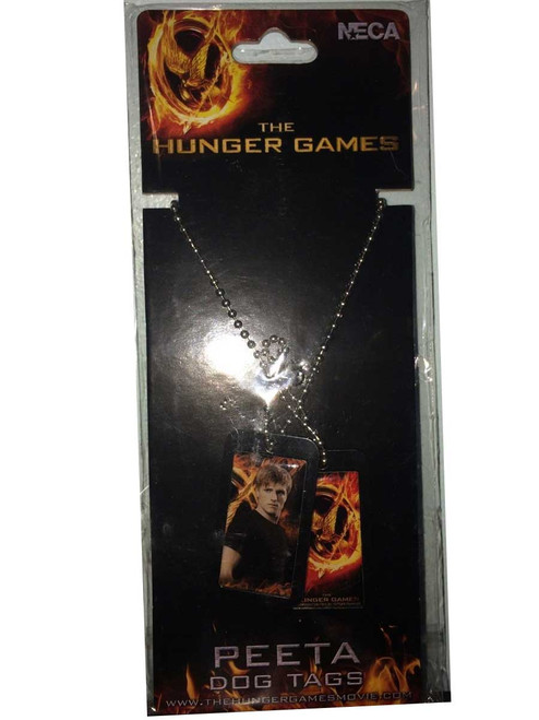 The Hunger Games Peeta & Mockingjay Dog Tags Ball Chain Necklace
