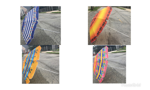 "(Choose Color) Six Foot (72"") Beach Umbrellas"
