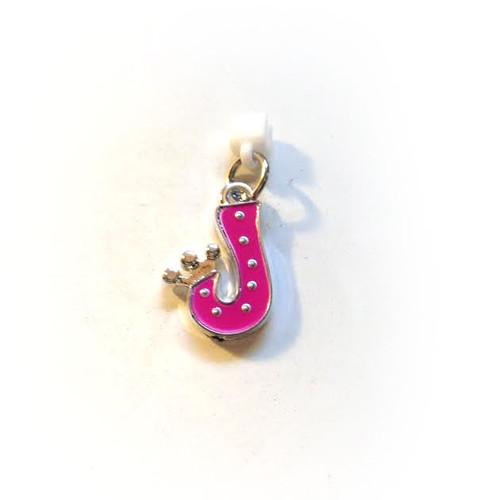 Pop Girl Ear Bud Charm: Letter J