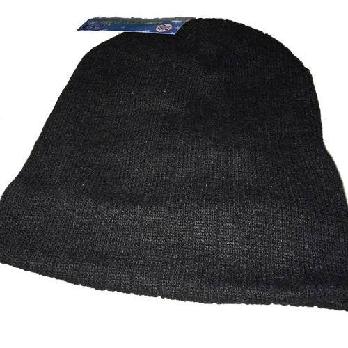Ladies/Men Unisex Beanie Thermal Fleece Liner with Cuff Black