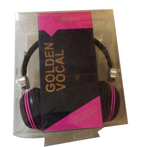 eVogue Golden Vocal Headphones PINK