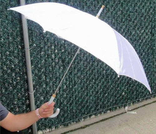 """42"""" Silk Automatic Pearly White Bridal Wedding 42"""" Umbrellas (open to a full 42"""")"""