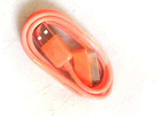 iPhone 4/iPod/iPad 3ft 30 pin Charging Cable ORANGE