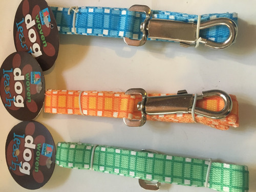 ( Choose Color ) 4ft  Woven Dog Leash