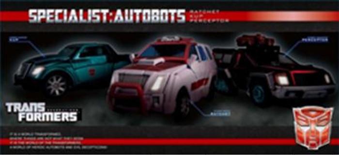 Henkei Classics - Autobot Set #2 - Ratchet, Kup and Perceptor