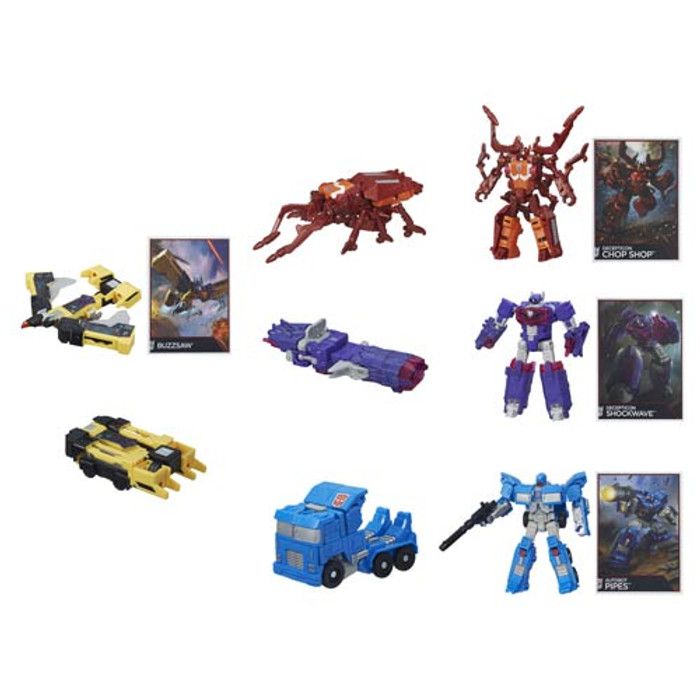 Transformers Generations Combiner Wars Legends Wave 5 - Set of 4 (Buzzsaw, Shockwave, Chop Shop, Autobot Pipes)