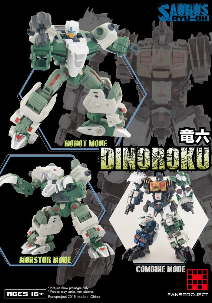 FansProject - Saurus Ryu-Oh: Dinoroku
