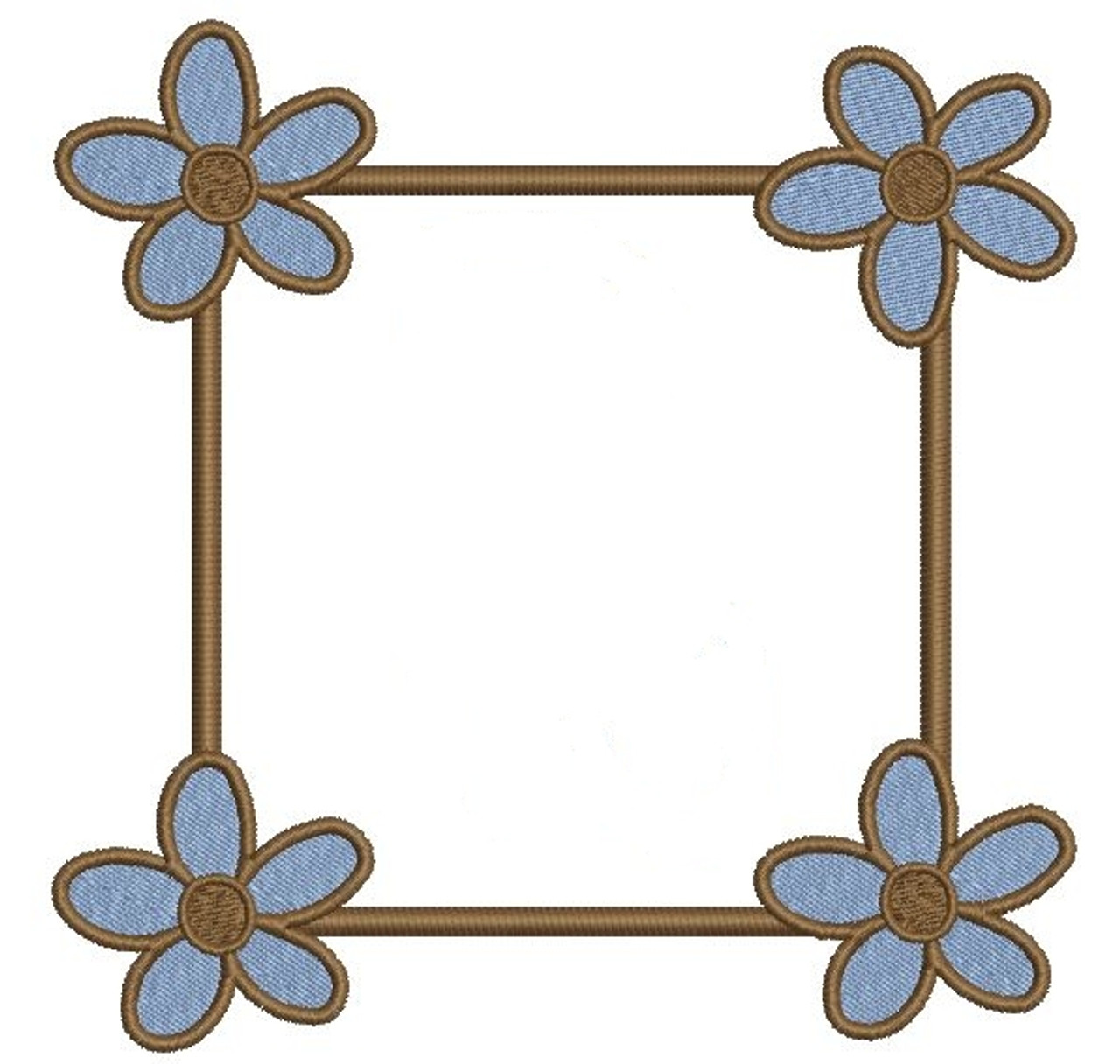 Spring Flower Font Frames Machine Embroidery Designs
