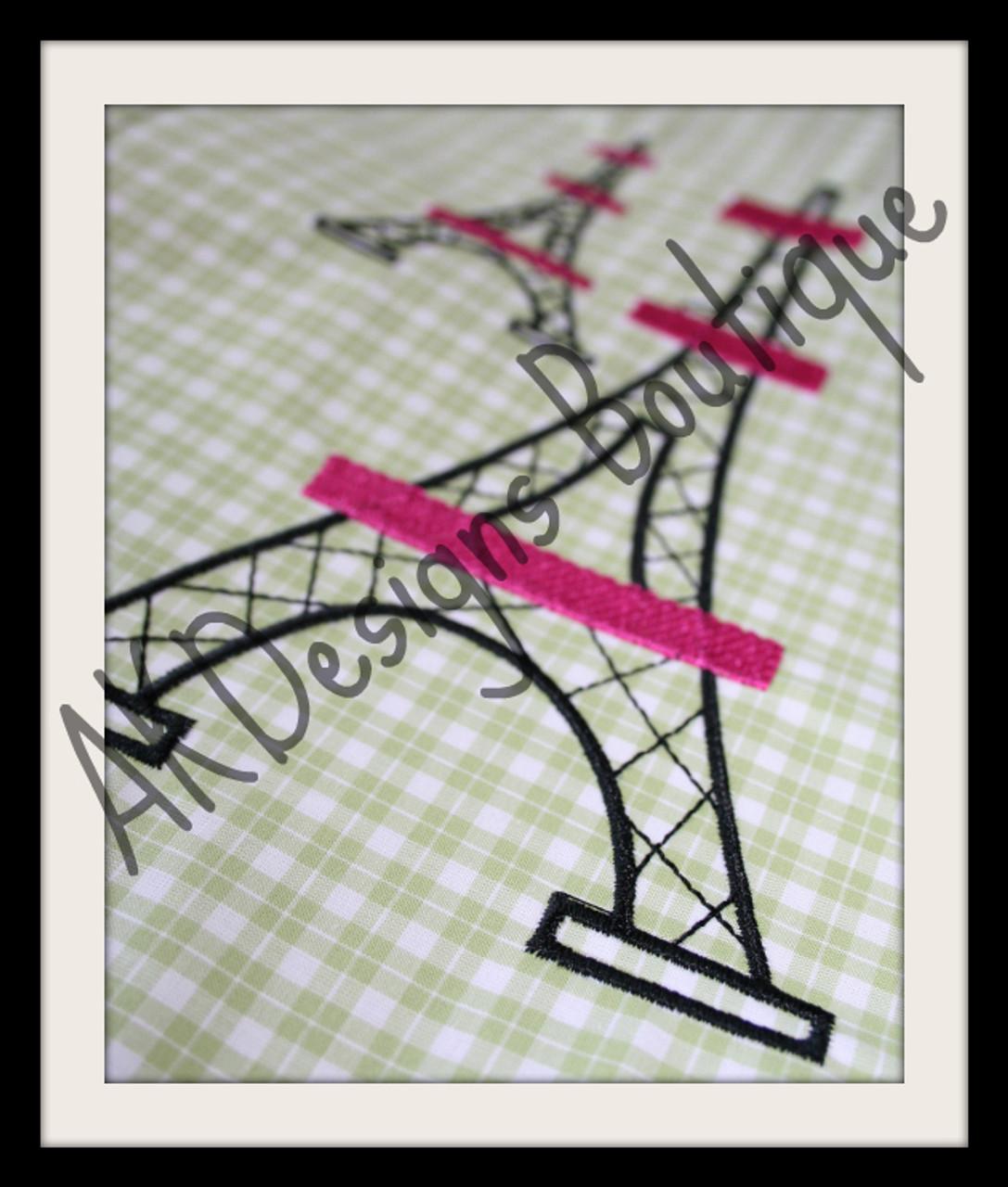 Eiffel Tower Machine Embroidery Designs Paris