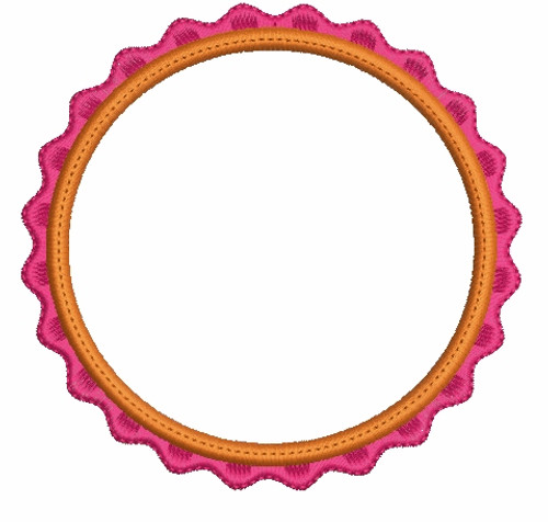 Circle Applique Font Frames Machine Embroidery Designs