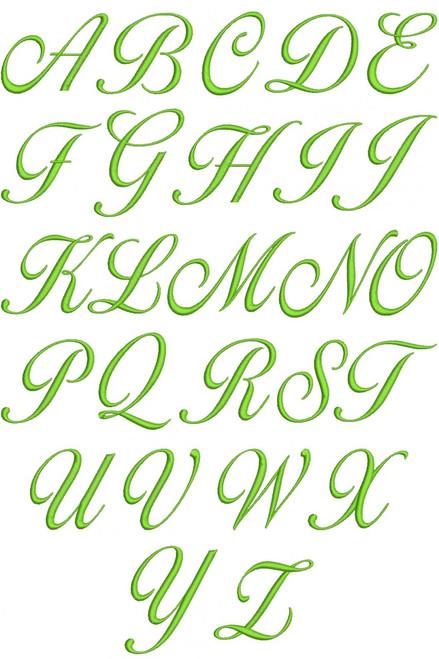 Lara Script Font Machine Embroidery Designs