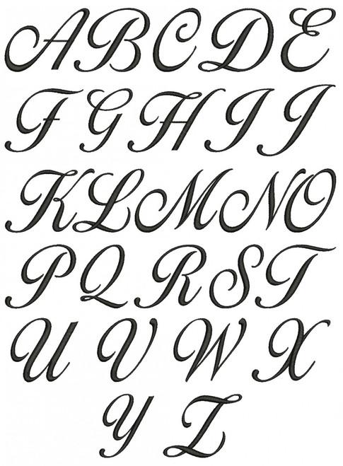 LG Lara Script Monogram Machine Embroidery Designs
