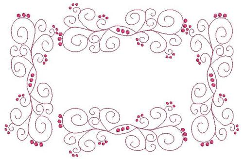 Fancy Swirl Frame Machine Embroidery Designs