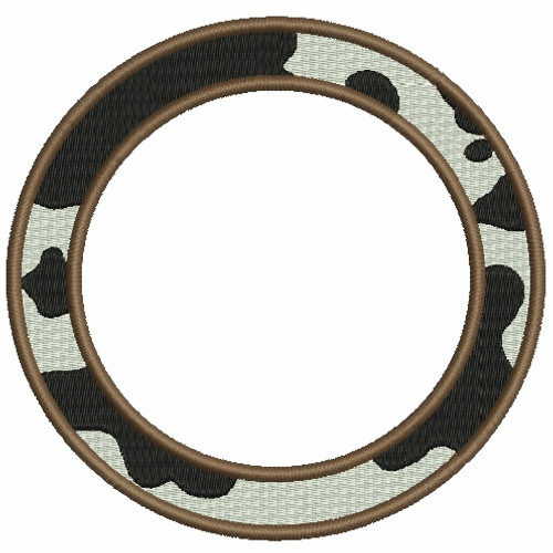Circle Cow Font Frames Machine Embroidery Designs