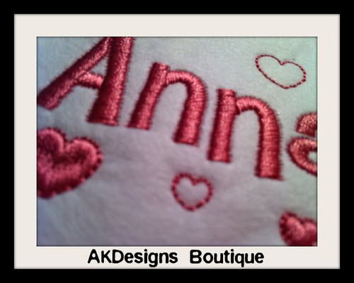 Viola Heart Font Machine Embroidery Designs