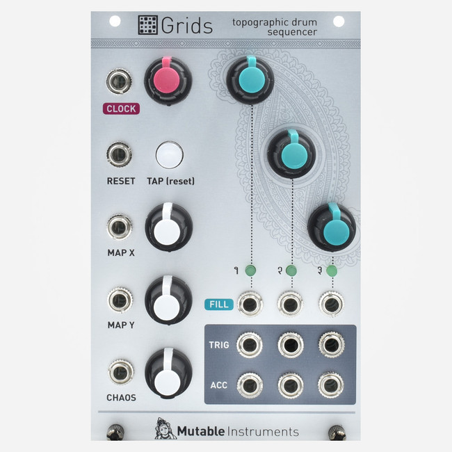 Mutable Instruments Grids Topographic Eurorack Trigger Pattern Generator
