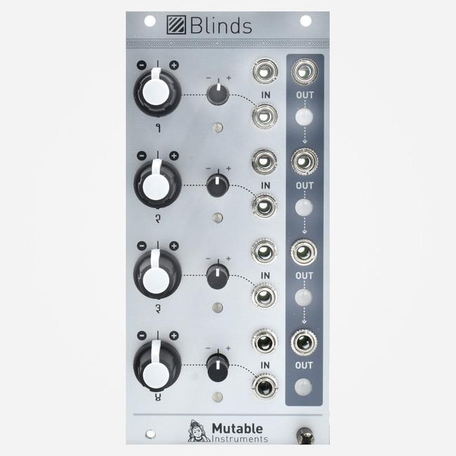 Mutable Instruments Blinds Quad Bipolar VCA/Attenuator Eurorack Module