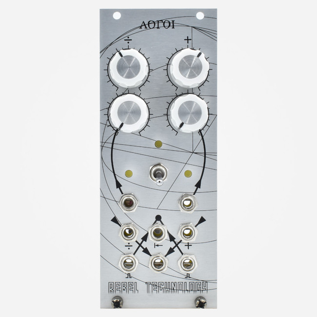 Rebel Technologies LOGOI Eurorack VC Clock Divider and Gate Delay Module