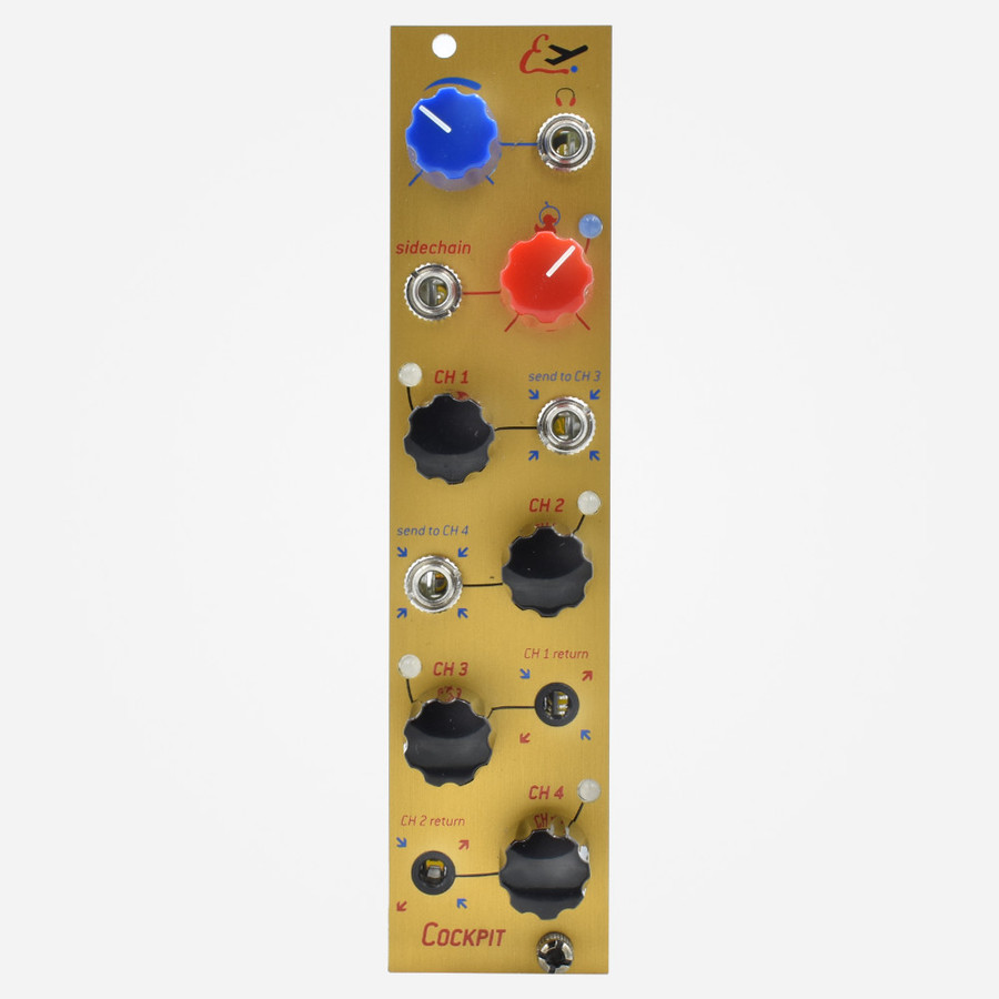 Endorphin.es COCKPIT Eurorack Stereo Mixer, Input, and Output Module