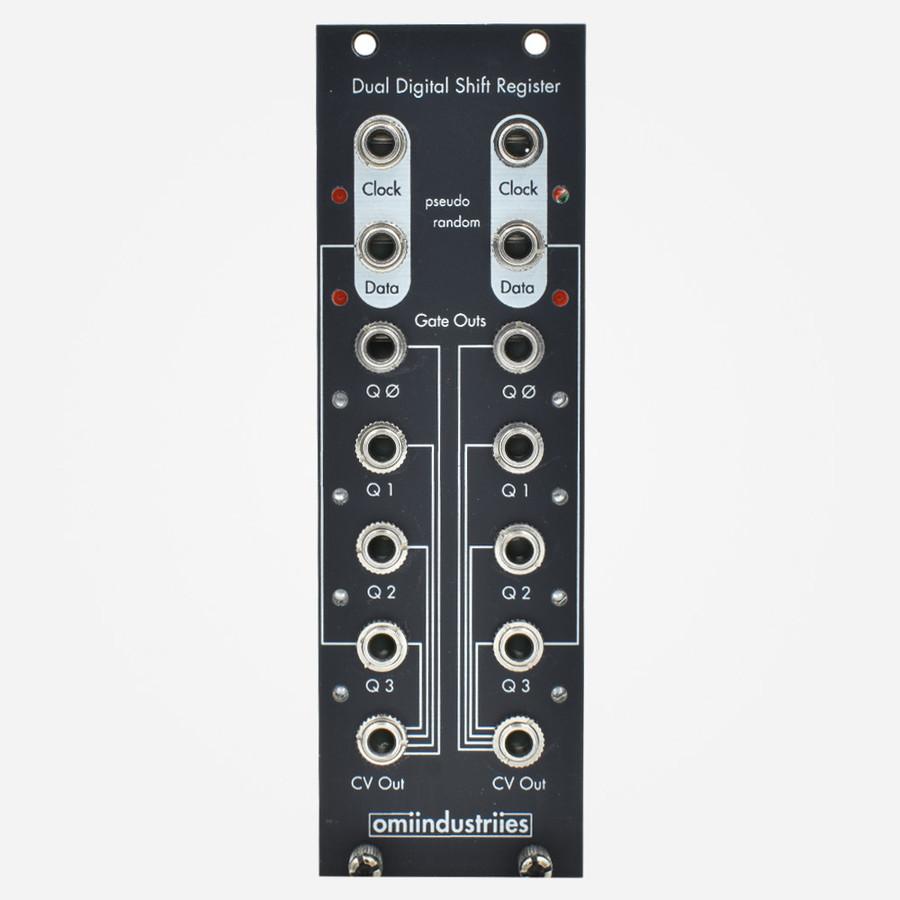 Omiindustries DDSR Dual Digital Shift Register Eurorack Trigger to CV Sequencer and Random Sequence Generator