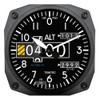 "6"" Modern Altimeter Instrument Style Clock"