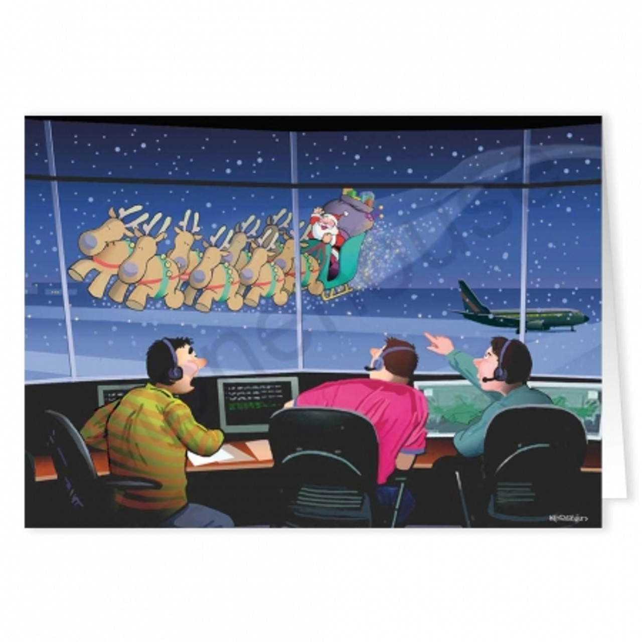 'Control Tower Flyby' Christmas Card Pack
