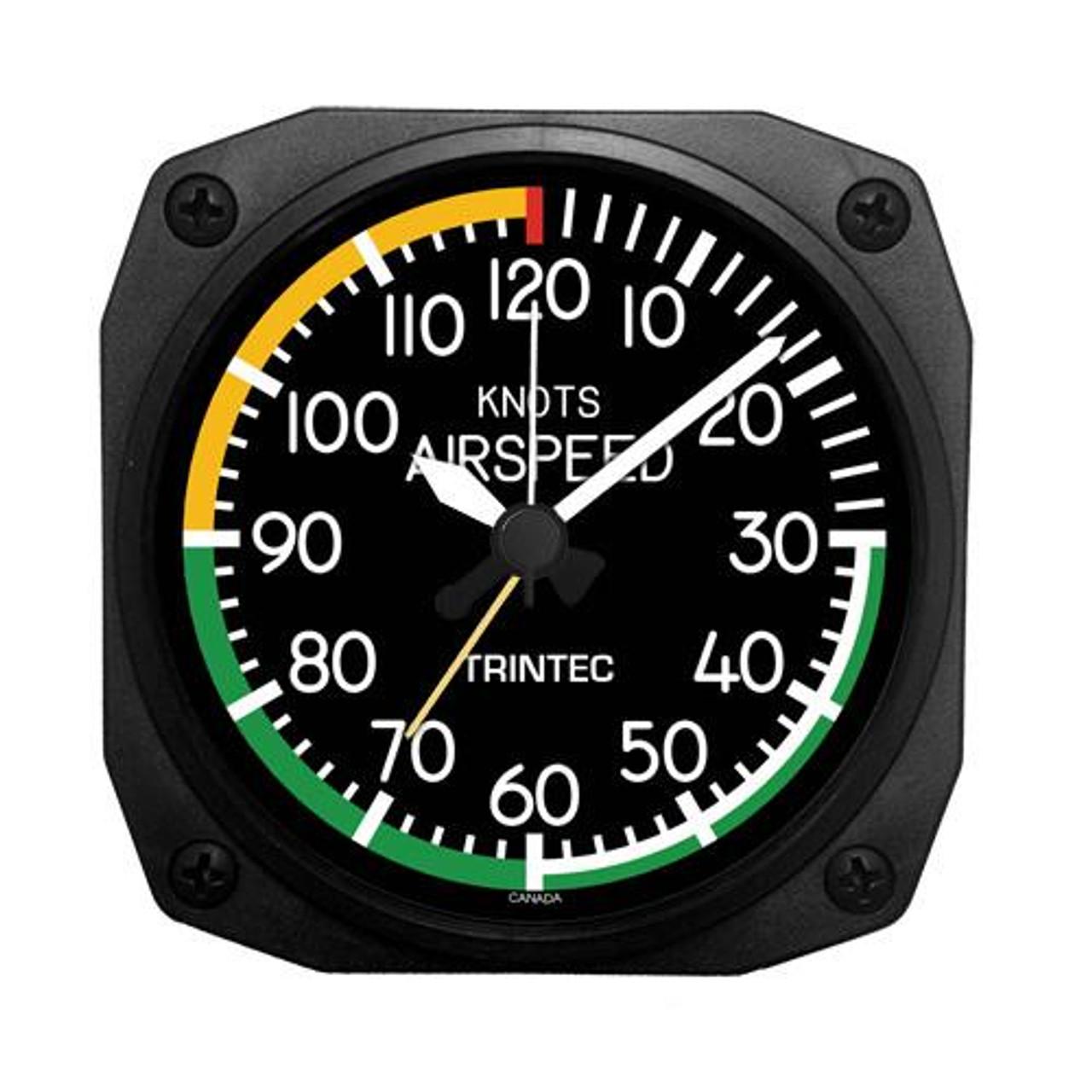 "3.5"" Modern Airspeed Indicator Alarm Clock"