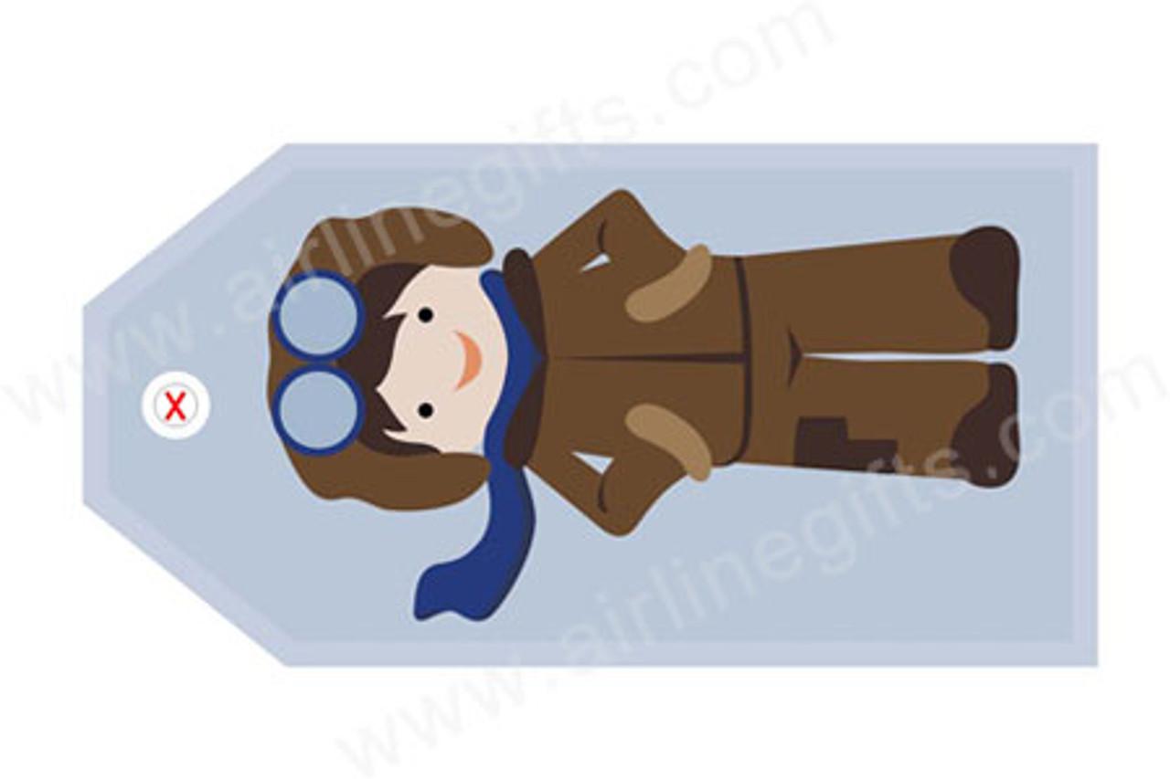 Aviator Boy Luggage Tag