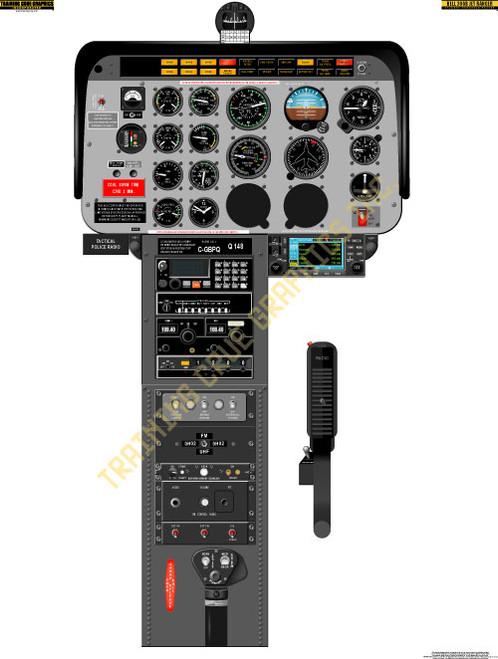 Bell 206B Jet Ranger Poster