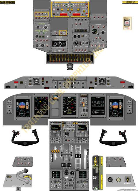 Bombardier Dash 8-Q400 Tape Displays Poster