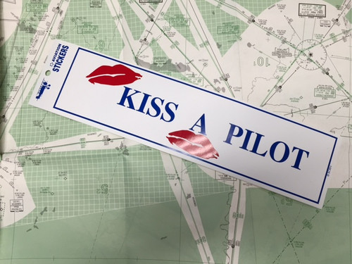 Kiss a Pilot Sticker