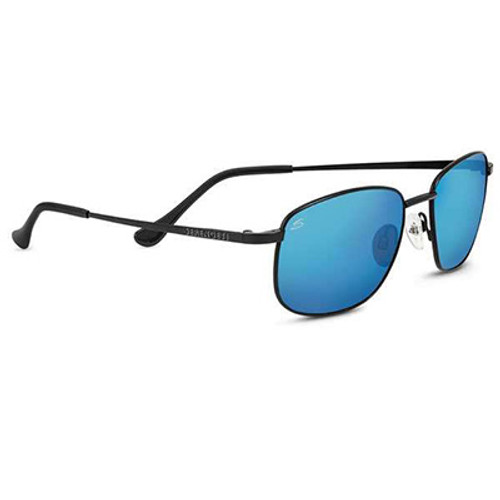 Serengeti Monreale Satin Black Blue 555 Polarized