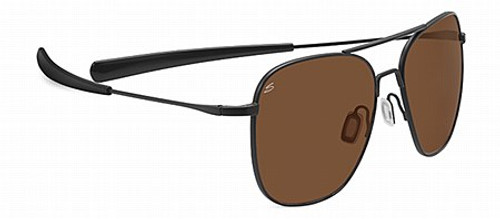 Serengeti Aerial Satin Black Drivers Gradient Non Polarized