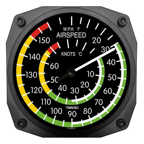 """6"""" Airspeed Instrument Style Thermometer"""