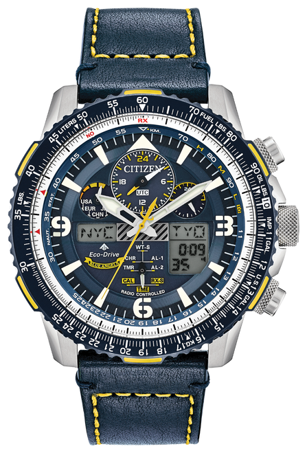 Citizen Promaster Skyhawk Leather Watch - Blue Angels