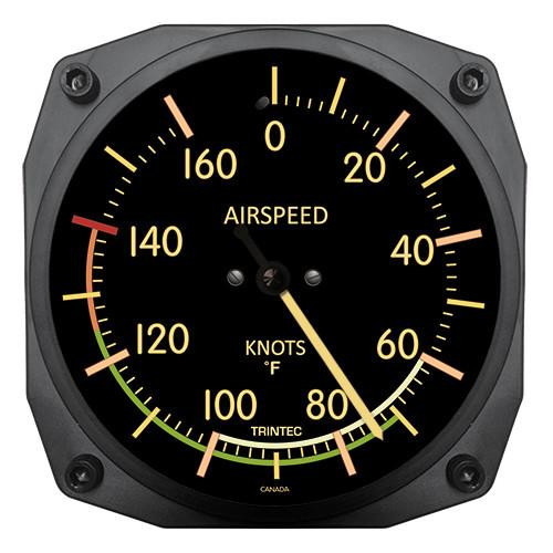 """6"""" Vintage Airspeed Instrument Style Thermometer (°F)"""